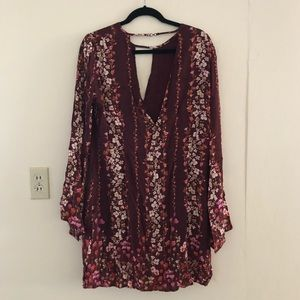 Floral long sleeve dress UO